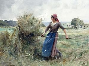 Peasant and Hay by Julien Dupre