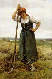 Peasant Woman Leaning on a Pitchfork by Julien Dupre