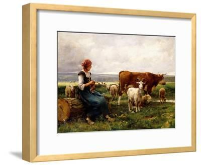 Shepherdess with Cows and Goats