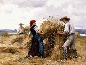 Stacking Hay by Julien Dupre