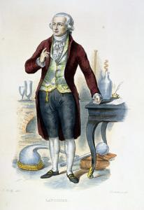 """Antoine Laurent De Lavoisier (1743-94) Illustration from """"Le Plutarque Francais"""" by Julien Leopold Boilly"""