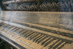 Antique Piano, Ellis Island, New York, New York. Usa by Julien McRoberts