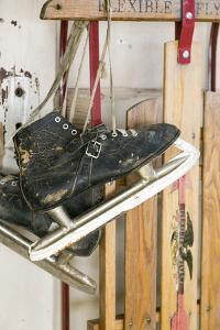 Close Up of Antique Ice Skates, Tucumcari, New Mexico, USA by Julien McRoberts