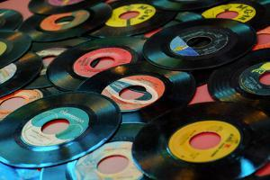 Collection of Vinyl Records, Wildwood, New Jersey, Usa by Julien McRoberts