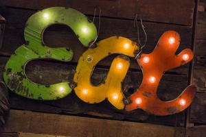 Colorful 'Eat' Antique Sign, New York City, New York, USA by Julien McRoberts