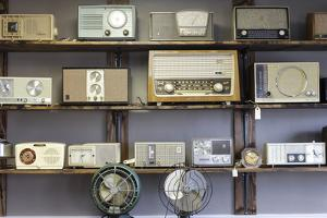 Display of Antique Radios, Las Vegas, Nevada. Usa by Julien McRoberts
