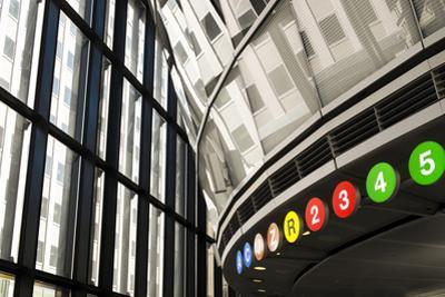 Interior of a Subway Station, New York City, New York, Usa