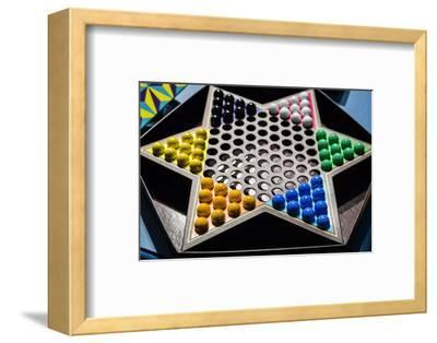 New York City, NY, USA. Chinese Checkers Game