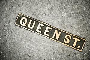 Queen St. Sign, Charleston, South Carolina. USA by Julien McRoberts
