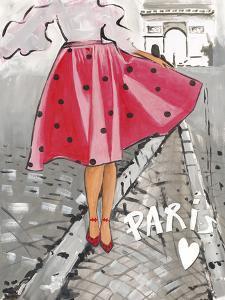 Polka Dot Paris I by Juliette McGill