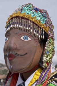 Native Quechua people celebrate the day of San Jeronimo, the patron saint of the city, San Jeronimo by Julio Etchart