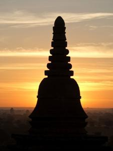 Sunrise in the Buddhist Temples of Bagan (Pagan), Myanmar (Burma) by Julio Etchart