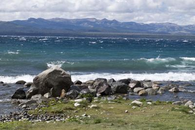 Views of Andes mountains by Lake Nahuel Huapi in Bariloche, Argentina, South America by Julio Etchart