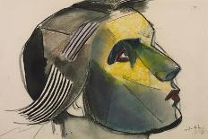 Profile of a Girl in a Head-Dress-Julio González-Giclee Print