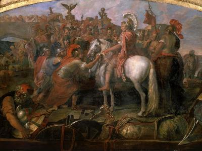 Julius Caesar, 100-44 BC Roman general, Sending Roman Colony to Carthage-Claude Audran the Younger-Giclee Print