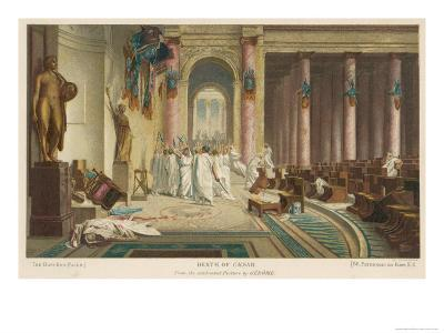 Julius Caesar is Assassinated in the Senate by Brutus and His Companions- Gerome-Giclee Print