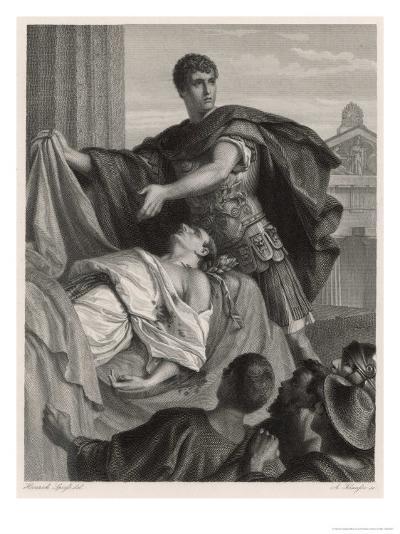 Julius Caesar, Mark Antony's Funeral Oration Over the Corpse of Caesar-Heinrich Spiess-Giclee Print