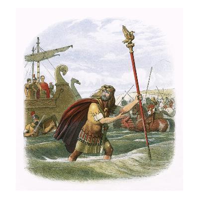 Julius Caesar's Invasion Attempt in 55 Bc-James E. Doyle-Giclee Print