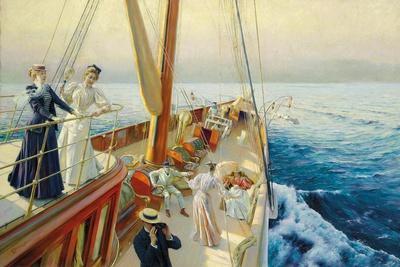 Segeln im Mittelmeer. 1896
