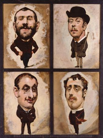 Four Caricatures, 1882-83