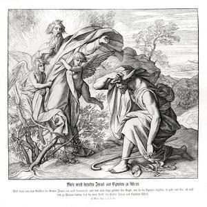 Moses and the burning bush, Exodus by Julius Schnorr von Carolsfeld