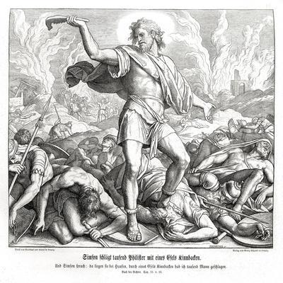 Samson slays a thousand Philistines, Judges