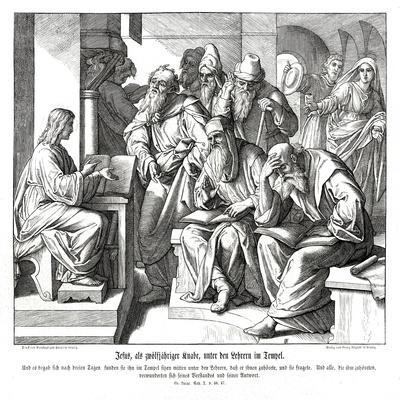 The child Jesus in the temple, Gospel of Luke