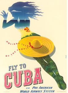 Fly to Cuba - Pan American World Airways System (PAA) - Holiday Isles of the Tropics by Julius Seyler