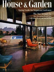 House & Garden Cover - April 1954 by Julius Shulman