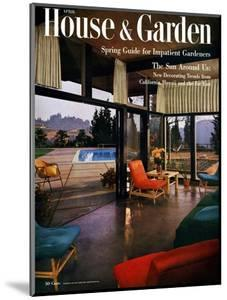 House & Garden Cover - April 1954 by Julius Shulman