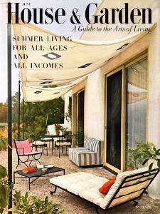 House & Garden Cover - June 1953 by Julius Shulman
