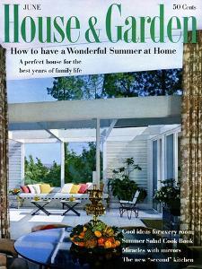 House & Garden Cover - June 1959 by Julius Shulman