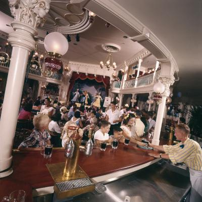 July 17 1955: Children's Saloon, the Golden Horseshoe Soft Drink Concessionaire, Disneyland, Ca-Loomis Dean-Photographic Print