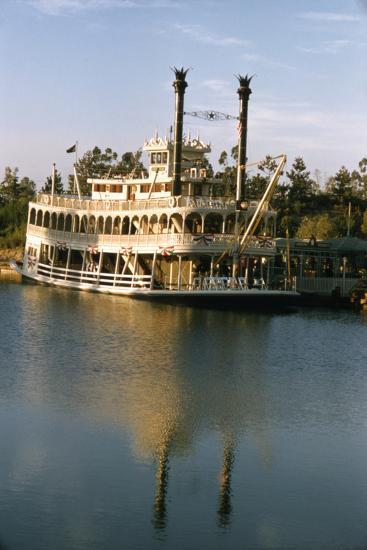 July 17 1955: Disneyland's Mark Twain River Boat, Anaheim, California-Loomis Dean-Photographic Print