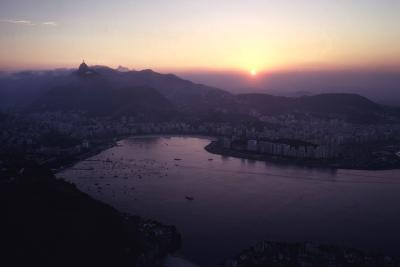 July 1973: Sunset Panoramic View of Rio De Janeiro, Brazil-Alfred Eisenstaedt-Photographic Print