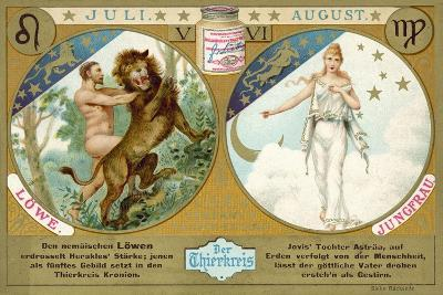 July and August: Leo and Virgo--Giclee Print