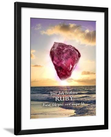 JULY BD card outside-Evie Cook-Framed Giclee Print