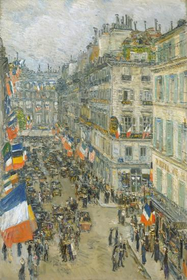 July Fourteenth, Rue Daunou, 1910-Childe Hassam-Giclee Print