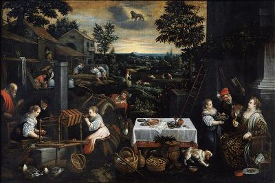 July (From the Series the Seasons), Late 16th or Early 17th Century-Leandro Bassano-Giclee Print