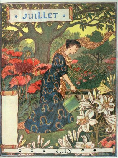 July-Eugene Grasset-Giclee Print