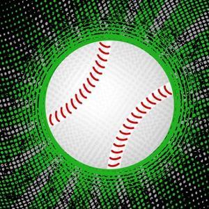 Abstract Grunge Baseball. Illustration by Julydfg
