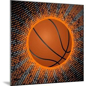 Abstract Grunge Basketball. Illustration by Julydfg