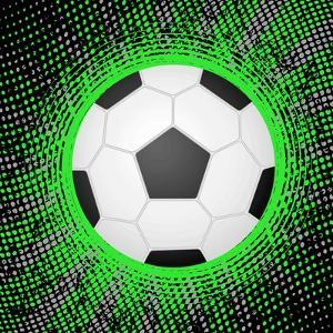Abstract Grunge Soccer. Illustration by Julydfg