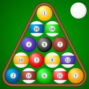 Set of Pool Balls on a Green. Illustration by Julydfg