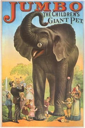Jumbo, the Children's Giant Pet--Stretched Canvas Print