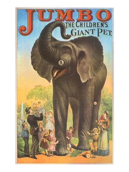 Jumbo, the Children's Giant Pet--Giclee Print