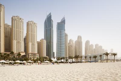 Jumeirah Beach at Sunset-Jorg Greuel-Photographic Print
