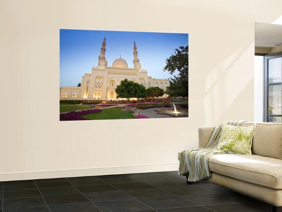 Jumeirah Mosque at Dusk, Dubai, United Arab Emirates-Neil Farrin-Wall Mural
