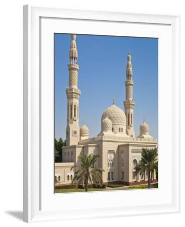Jumeirah Mosque, Dubai City, Dubai, United Arab Emirates, Middle East-Neale Clark-Framed Photographic Print
