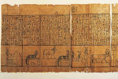 Jumilhac Papyrus: Treaty of Mythological Geography in Cursive Hieroglyphs--Giclee Print